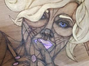 pensive marilyn detail